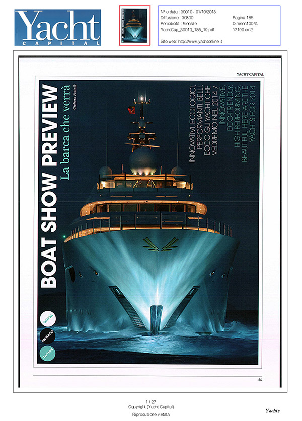 Yacht Capital, October 2013