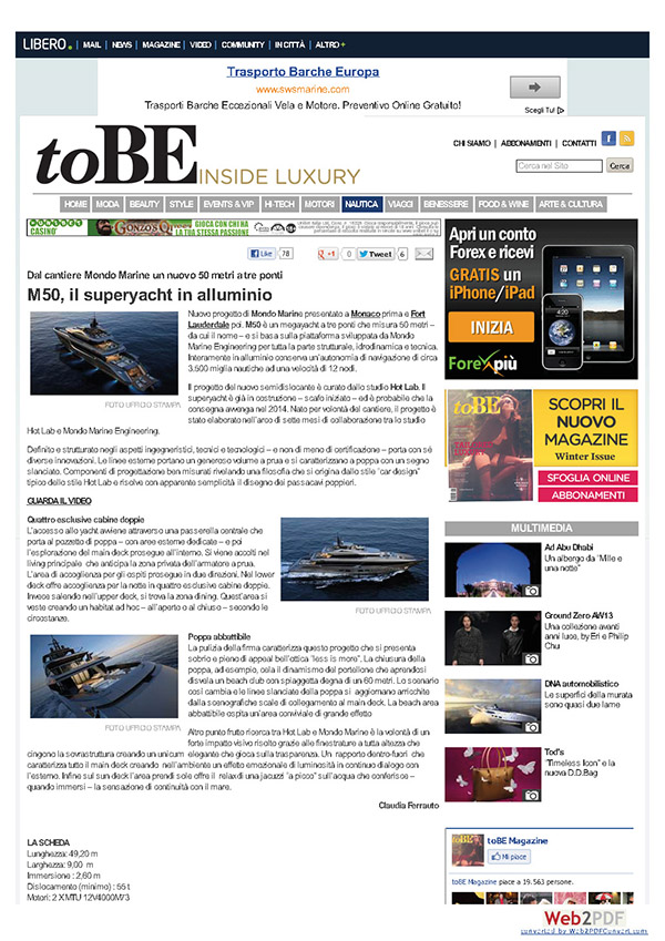TOBE - INSIDE LUXURY, December 2012